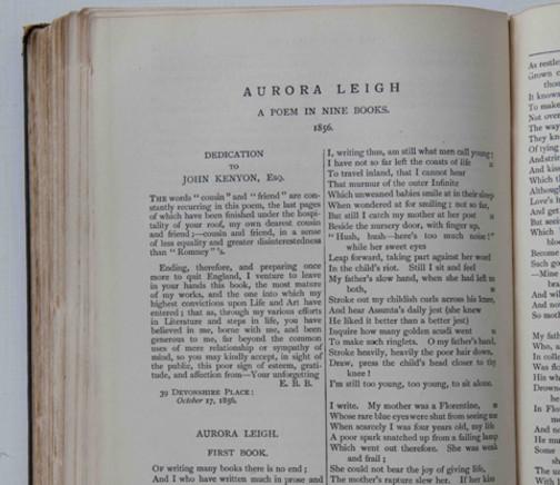 Elizabeth Browning,  Aurora Leigh